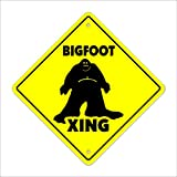 "Bigfoot Crossing Sign Zone Xing | Indoor/Outdoor | 12"" Tall sasquatch big foot print monster fantasy big foot ape"