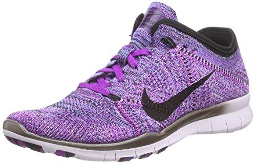 Black Mujer Fuchsia Nike Morado Glow Free Zapatillas running Purple Vivid de Volt Flyknit Violett Tr x4wTqYBwP