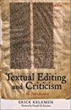img - for Textual Editing and Criticism: An Introduction book / textbook / text book