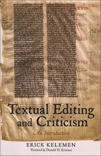 Textual Editing and Criticism: An Introduction