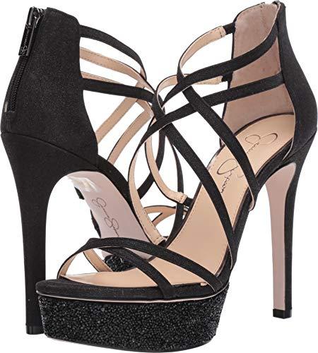 Jessica Simpson Women's ARAYA2 Heeled Sandal, Black, 10 M US