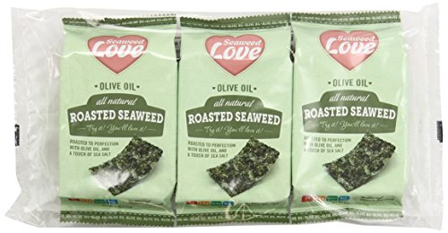 Seaweed Love All Natural Roasted Seaweed Olive Oil, 0.18 Ounce (Pack of 24)