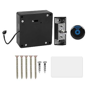 Universal RFID Hidden Cabinet Lock, Home Office Smart Electronic Invisible  Reader for Wooden Drawer Locker Cabinet Slidding Door Auto-rebounce