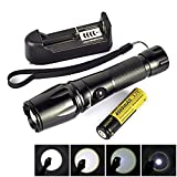 Sumger LT - HJ 2000 Lumen 5Mode CREE XM-L T6 Waterproof IPX5 (Anti-rain, spill-resistant water) Focusable LED Flashlight Set(18650 tube, AAA Battery Configurator,18650 Battery, Battery charger)