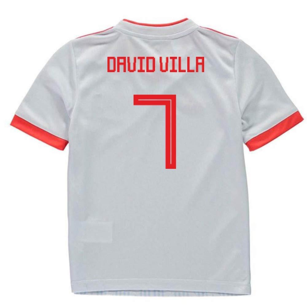 UKSoccershop 2018-2019 Spain Away Adidas Mini Kit (David Villa 7)