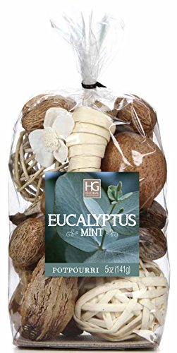 Hosley Eucalyptus Mint Chunky Potpourri, 5 Oz. Ideal Gift for Party Favor, Weddings, Spa, Reiki, Meditation, Bathroom Settings O4 ()