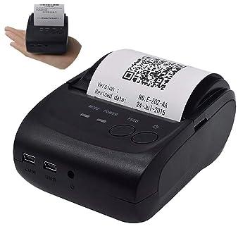 ZUEN BT USB Impresora térmica, portátil 58Mm Impresora de ...