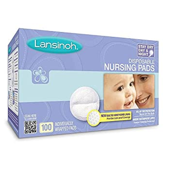Lansinoh Nursing Pads 2 Packs of 100 Stay Dry Disposable Breast 200 Count