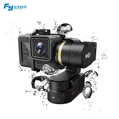 Feiyu Tech Wearable Gimbal WG2 IP67 Waterproof Stabilizer Compatible with Action Camera GoPro Hero 5, Hero 4, Session, Yi 4K, AEE, SJCam