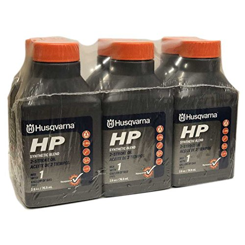 - Husqvarna 2.6 oz HP Synthetic Blend 2-Cycle Engine Oil 6-Pack 593152601