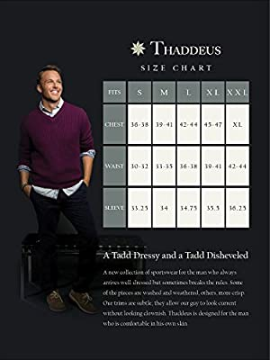 THADDEUS Park Mens Long Sleeve Plaid Button Down Cotton Shirt with Chest Pocket (See More Colors, Patterns and Sizes)