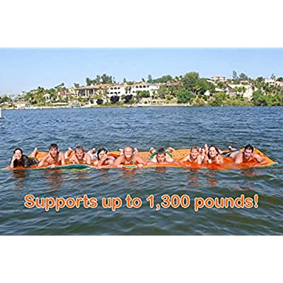 Maui Mat (by Aqua Lily Products, Floating Foam Fun Pad Designed for Water Recreation and Relaxing (20ft): Toys & Games