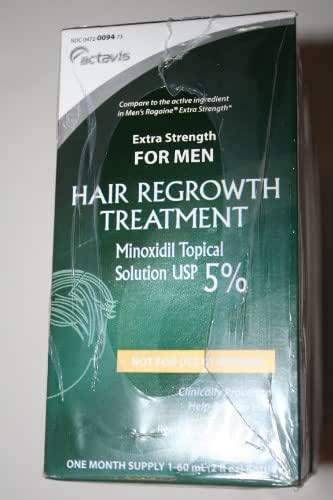 Actavis for Men Hair Growth Treatment Extra Strength Minoxidil 5% 3-month Supply