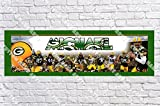 Personalized Green Bay Packers Banner - Includes Color Border Mat, With Your Name On It, Party Door Poster, Room Art Decoration - Customize