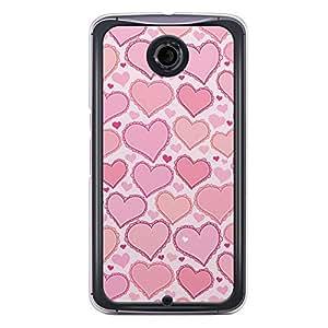 Loud Universe Nexus 6 2015 Love Valentine Printing Files A Valentine 175 Printed Transparent Edge Case - White/Pink