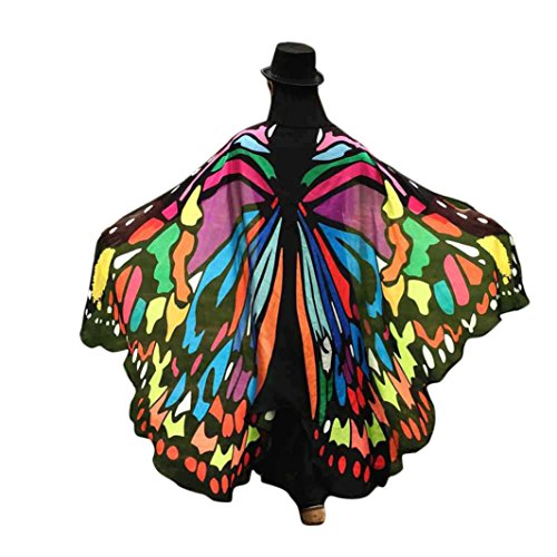[Creazy Soft Fabric Butterfly Wings Shawl Fairy Ladies Nymph Pixie Costume Accessory (Multicolor)] (Cheap Adult Fairy Costumes)