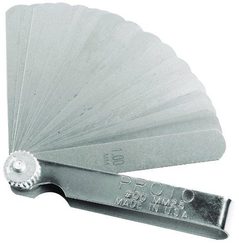 Stanley Proto J00MM25 25 Blade Metric Feeler Gauge ()