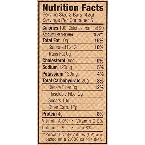 CLIF CRUNCH - Granola Bar - Chocolate Peanut Butter, 1.48 oz,  5 Two-Bar Pouches