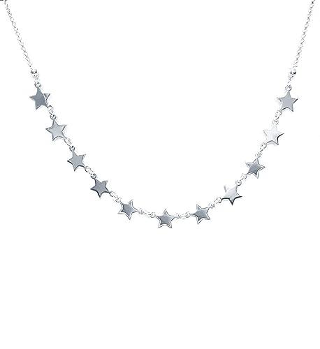 professionista di vendita caldo alta qualità goditi la spedizione in omaggio Collana donna con stelle in Argento 925 - Linea Italia gioielli Made in  Italy