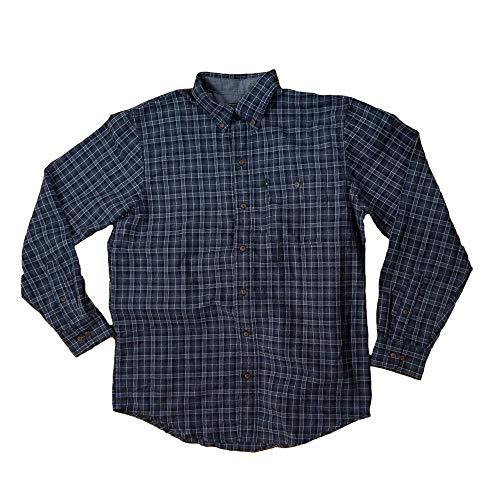 G.H. Bass & Co. Men's Fireside Flannel Long Sleeve Button Down Shirt (Medium, Sagrasso Blue Sea)