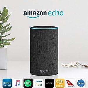 Amazon Echo (2nd generation), Charcoal Fabric