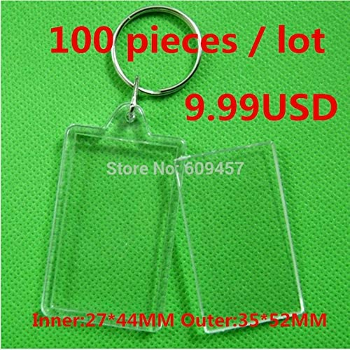 Amazon Com Binoca Frame 100pcs Lot Acrylic Transparent Key Chains Photo Frame Keychains Cross Stitch Keychains Diy Blank Key Chains