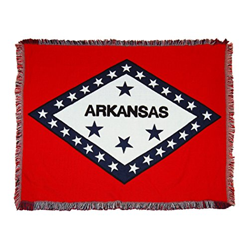 The Northwest Company Arkansas State Flag Woven Jacquard Throw Blanket, 46