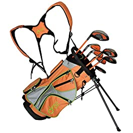 Droc – Mica Series 7 Pcs Golf Club Set + Golf Bag Ages 3 – 6 Left Handed (Titanium, Regular)