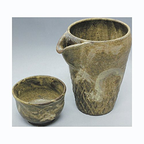 TOKYO MATCHA SELECTION - Cold (Iced) Sake Bottle & 2 Cup Set - Momiji - Japanese Tokoname-yaki pottery ceramic [Standard ship by Int'l e-packet: with Tracking & Insurance]