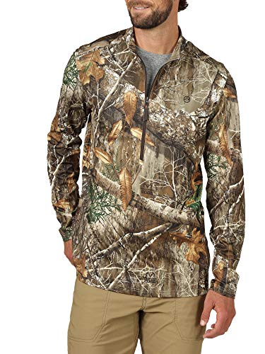 ATG by Wrangler Men's 1/2 Zip Pullover Shirt, Realtree Edge, 4X