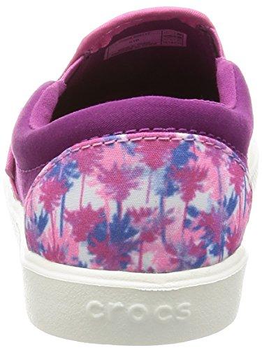 Crocs Kids' Citilane Novelty K Slip-on, Pink Palm, 12 M US Little Kid by Crocs (Image #2)