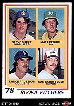 Amazon com: 1978 Topps # 709 Rookie Pitchers Steve Burke/Matt Keough