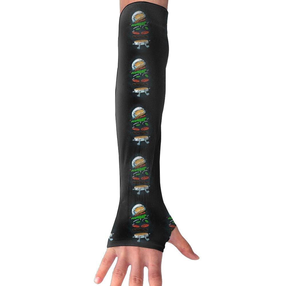 Unisex Astronaut Burger Sense Ice Outdoor Travel Arm Warmer Long Sleeves Glove
