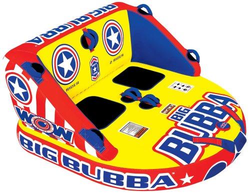 WOW World of Watersports 11-1150 Big Bubba Inflatable Towable, 1 or 2 Person, Front and Back Towing