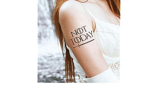 Not Today - Tatuaje temporal (conjunto de 2): Amazon.es: Handmade