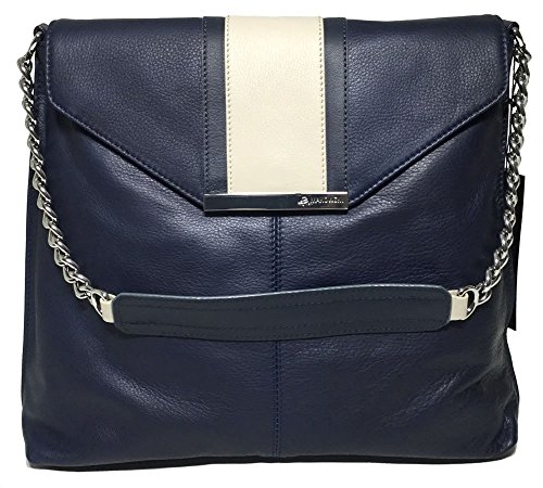 B. Makowsky Color Block Flap Hobo Navy/Stargazer/Stone for sale  Delivered anywhere in USA