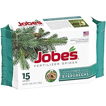 Jobes 01661 1611 Evergreen Outdoor Fertilizer Food Spikes, 15 pk