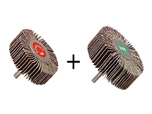 2 Stü ck Fä cherschleifer 60 x 20 mm Korn 40 und 80 x 30 mm Korn 80 MS Warenvertrieb