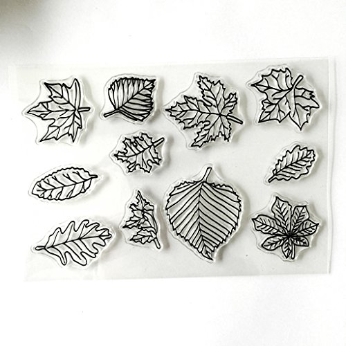 Mimgo Maple Leaves Silicone Clear Stamps For Scrapbooking Album Photo DIY Decor