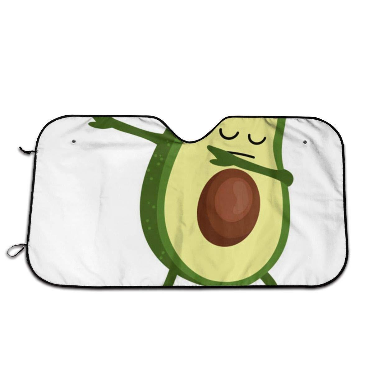 Avocado Green Food FunnyWindshield Sun Shade Car Windows UV Ray Reflector Outdoor Vehicle Accessories by ChanFi