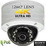 USG Sony DSP Ultra 4K 8MP 3840×2160 @ 30FPS H.265 Ultra HD IP PoE Network Dome Security Camera : 12MP 5mm Lens, ONVIF 2.4, Weatherproof, 18x 14μ IR LEDs, Audio, Alarm, microSD Slot : Free Phone App Review