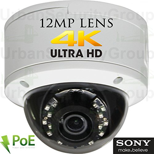 Cheapest Price! USG Sony DSP Ultra 4K 8MP 3840x2160 @ 30FPS H.265 Ultra HD IP PoE Network Dome Secur...
