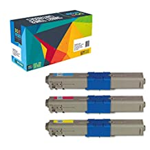 Do it Wiser ® Compatible Toner Cyan Magenta Yellow For Oki Okidata C330 C330DN C331DN C531DN MC361MFP - 44469702 44469703 44469701 - Yield 3,000 Pages (set of 3)