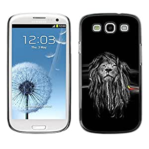 LOVE FOR Samsung Galaxy S3 Beautiful Majestic Lion Rasta Personalized Design Custom DIY Case Cover