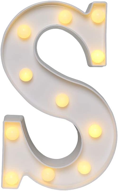 CYLAPEX Led Marquee Letter Lights Sign, Led Letter Lights Up 26 Alphabet Letter Light, Battery Operated Night Lights for Confession Wedding Party Birthday Christmas Home Bar Decoration Warm White