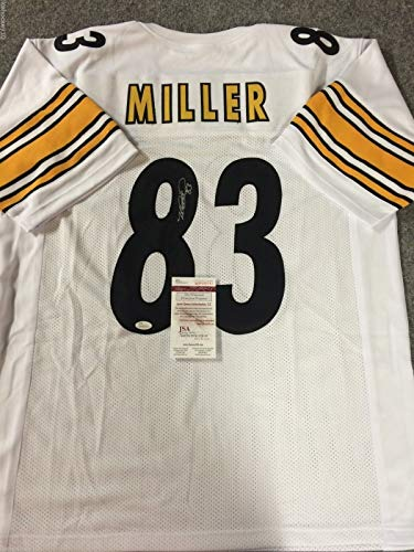 HEATH MILLER AUTOGRAPHED SIGNED PITTSBURGH STEELERS JERSEY JSA COA