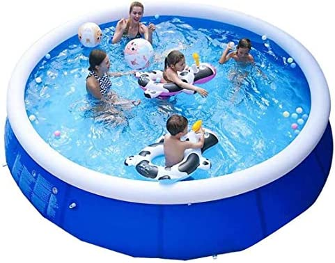 EPROSMIN Inflatable Ground Swimming Pool- 10 FT Outdoor Swimming Pool – Suitable for Adults, Kids, Toddlers- Fun Water Pool Party for Garden, Backyard- Anti-Tear Anti-Riot Sun
