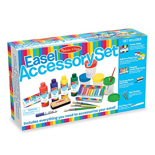 Melissa & Doug Easel Accessory Set - Paint, Cups, Brushes, Chalk, Paper, Dry-Erase Marker by Melissa & Doug (Image #3)