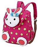 Cute Girl Backpack,Kids Canvas School Bookbags Toddler Rucksack Backpack Nursery Preschool Shoulder Bags, Lovely 3D Rabbit (1-5 Years Old)