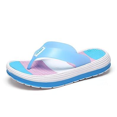 Sandals Flip Flops, Flach, Einfache, Komfortable, Rutschfeste Strand, Neue Mode Tragen, 36, Schwarz